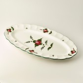 Large fish serving oval plate cm 62x32